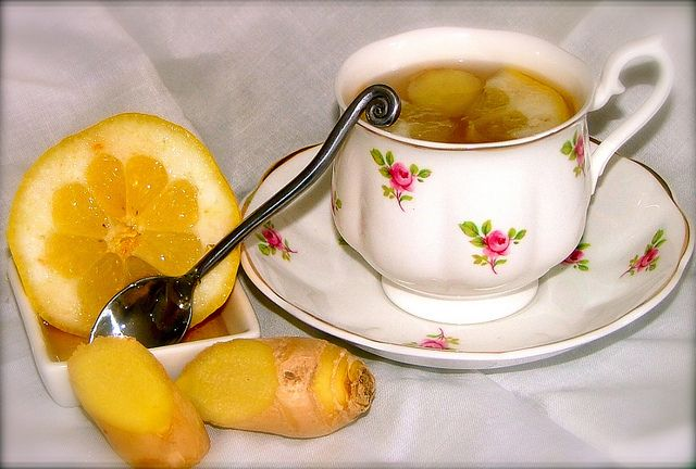 """Here's the recipe for a great detox beverage that's perfect for the post-holiday season: Boil a cup of water, add a ¼"""" piece of ginger and a pinch of turmeric. Squeeze in quarter of a lime, strain and drink! To truly get its benefits, get authentic turmeric from here: http://goo.gl/2IphAi"""