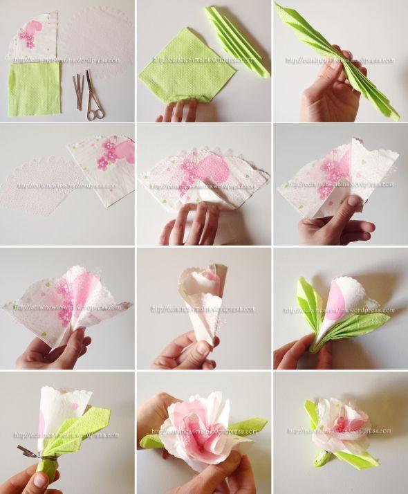 pliage de serviettes en forme de roses pour vos f tes pliage de serviettes pliage serviette. Black Bedroom Furniture Sets. Home Design Ideas