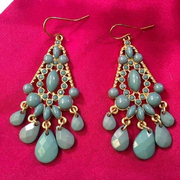 Charming charlie dark teal chandelier earrings charming charlie charming charlie dark teal chandelier earrings mozeypictures Images