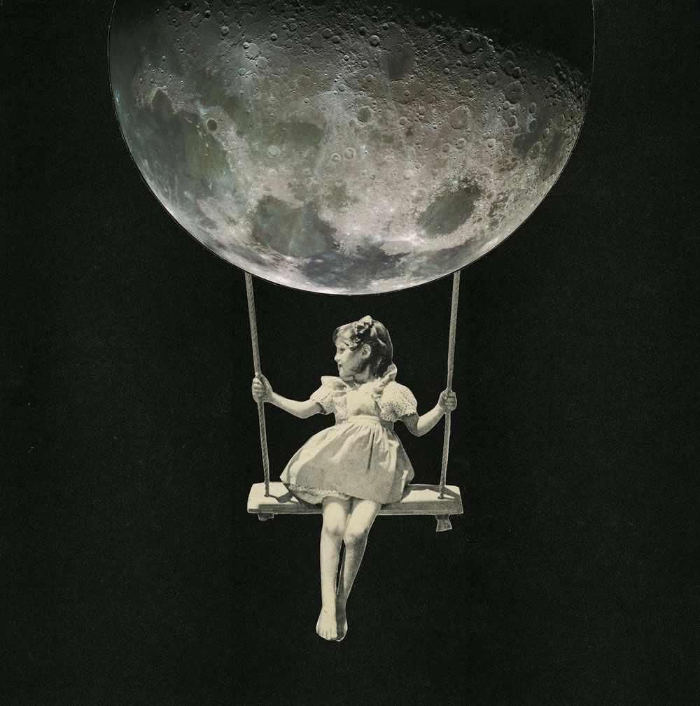 Moon Surreal Art Collage