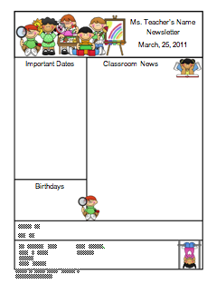 Free Misc Lesson  Teacher Newsletter Template  Go To The Best