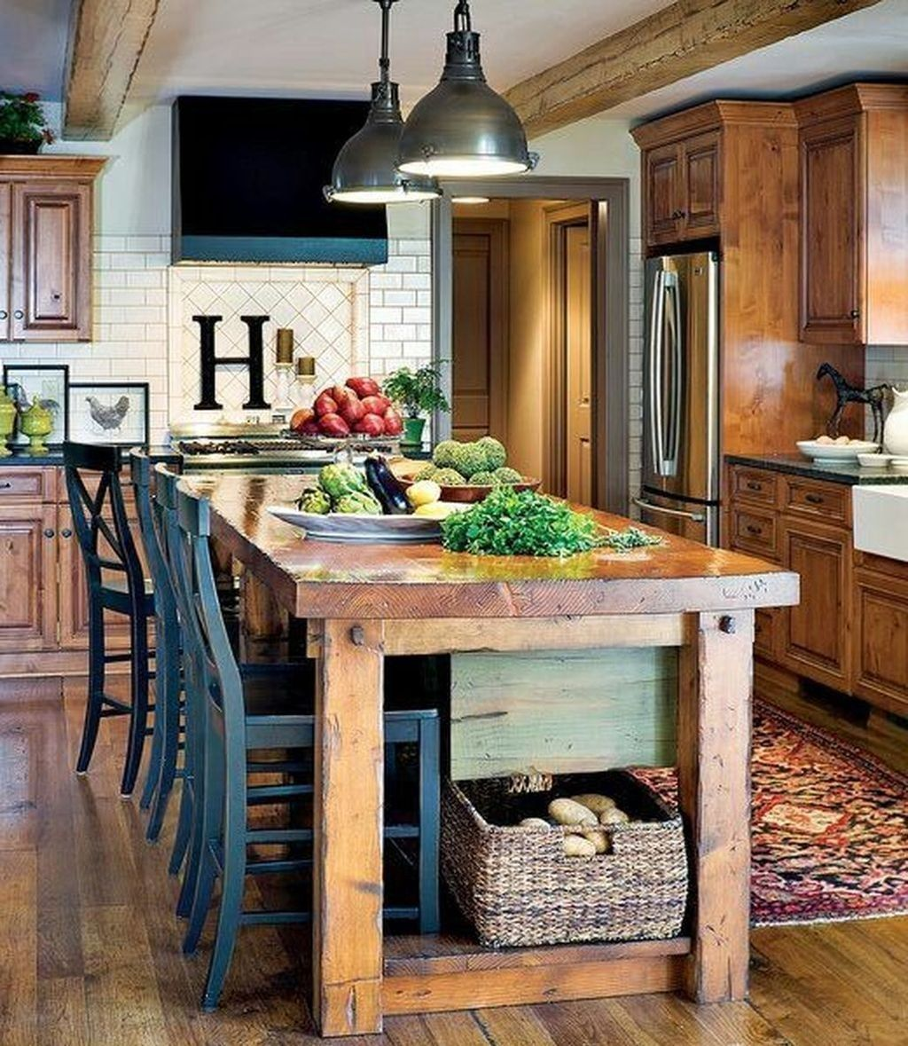 A kitchen island is a useful and multifunctional component