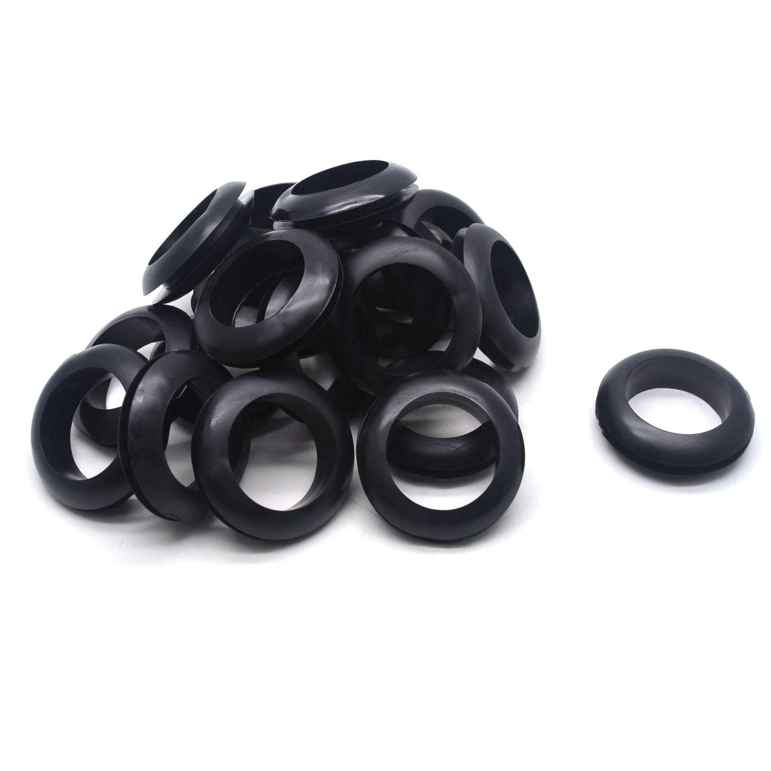 Antrader 20 Pack 25mm Inner Dia Round Rubber Grommet Double Sided Sealed O Ring Electrical Wire Outlet Loop Prote In 2020 Rubber Grommets Electricity Electrical Wiring