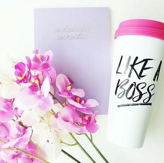 Perfect for the everyday hustle! ♥ 20oz Travel Mug♥ Hand Wash in Lukewarm Water with a Non-Abrasive Pad & Avoid Washing Over the Design♥ Pink Spill-Proof Lid♥ Design on Front, Logo on Back♥ BPA Free Plastic & Biodegradable This is a PREORDER that will ship by July 18th! #JessLeaBoutique