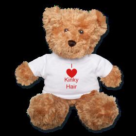 I (Heart) Kinky Hair teddy bear ~ $28.00 #naturalhair #curlyhair #gifts #valentinesday