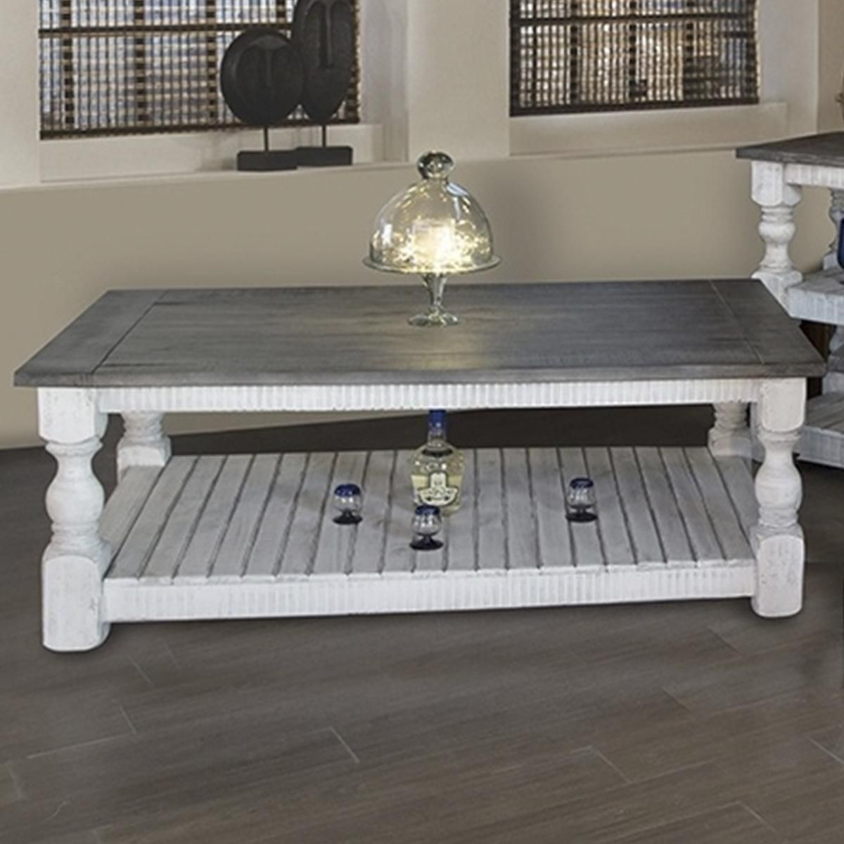 Fallridge Stone Cocktail Table In Off White And Gray Nfm Table Cocktail Tables Furniture [ 1200 x 1200 Pixel ]