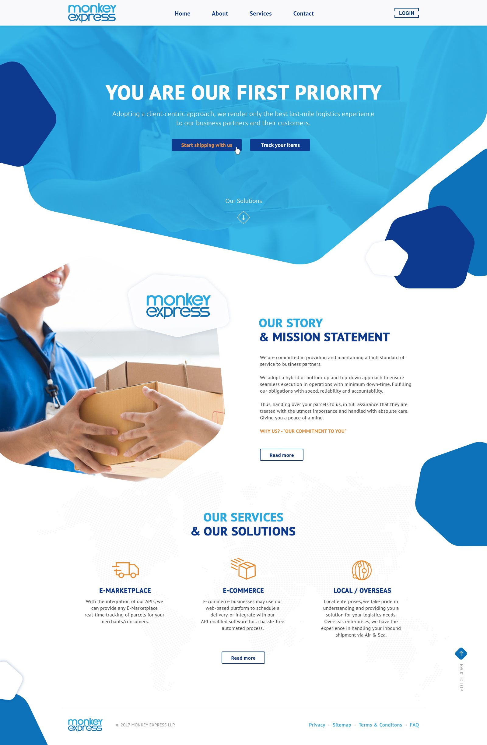 Website Design For Delivery Services Company With Modern And Clean Style Check Out My Behance For Medical Website Design Modern Website Design Website Design
