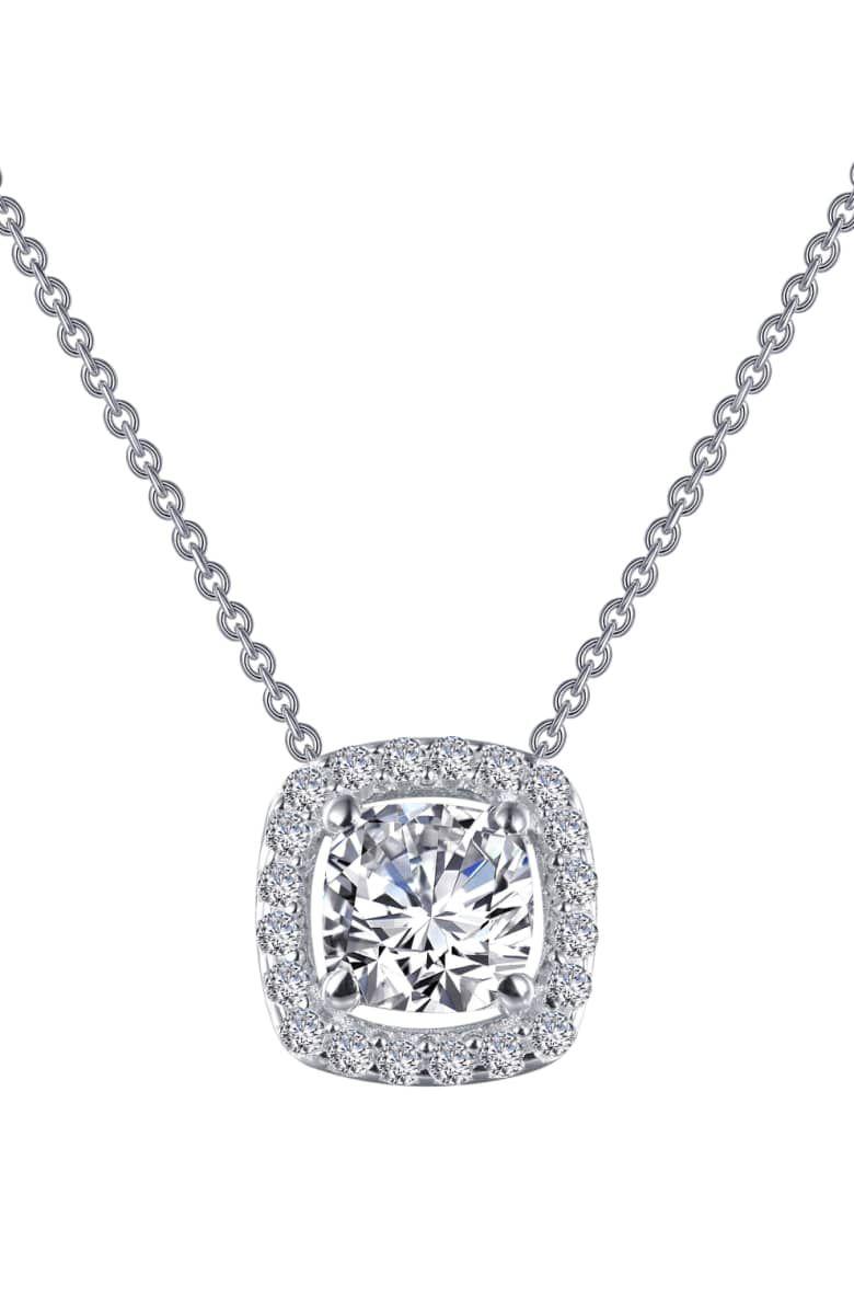 bd320fd1ce1dc LAFONN Oval Cut Halo Necklace with Simulated Diamonds ...