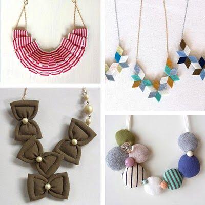 fabric jewelry - Google Search