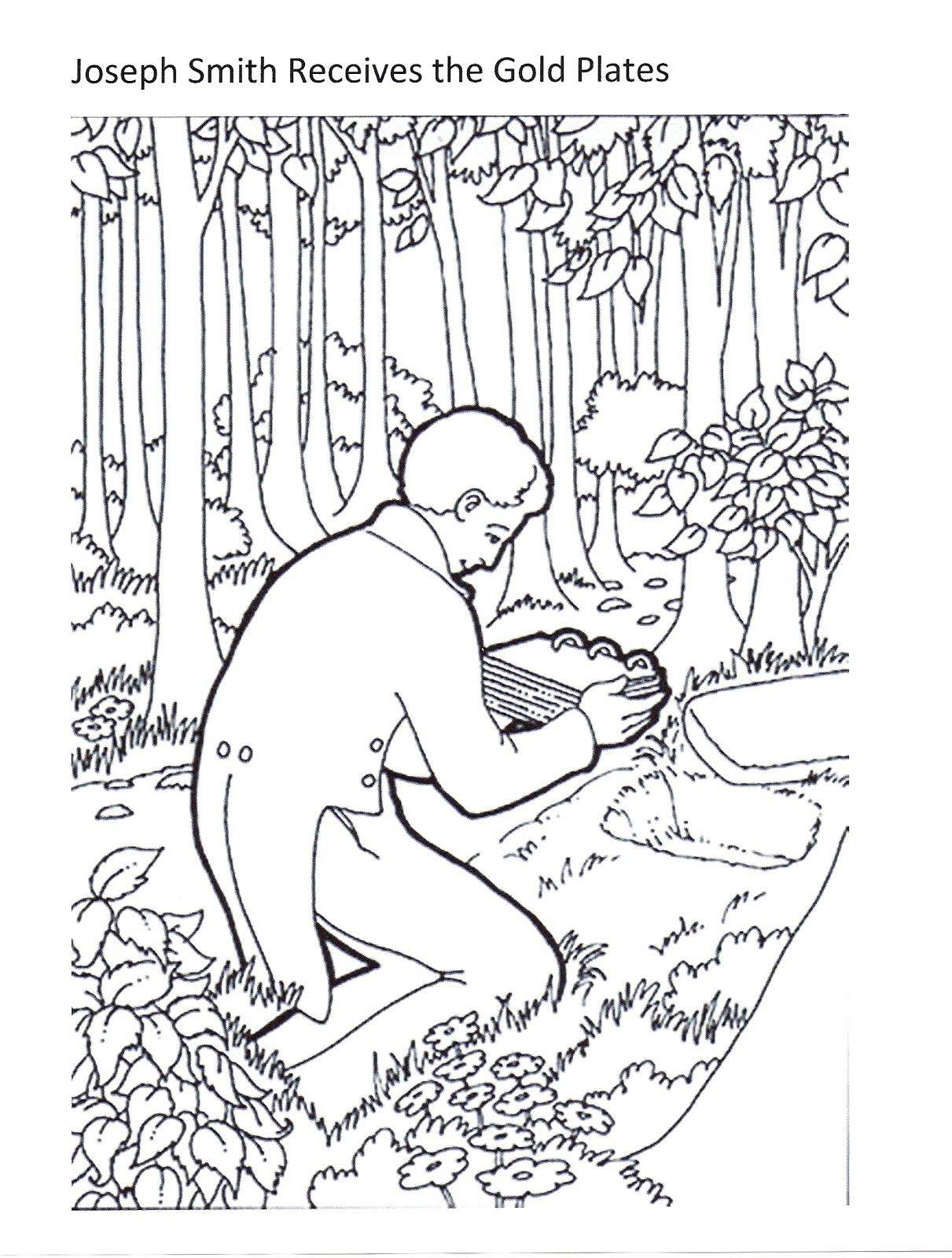 Beautiful Joseph Smith Receives The Golden Plates With Lds Primary Joseph Smith Coloring Pictures