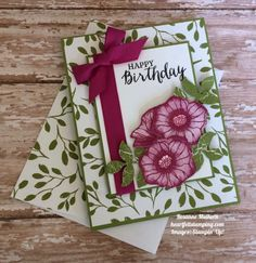 Stampin Up Oh So Eclectic Birthday Card - Rosanne Mulhern https://heartfeltstamping.com/2017/08/oh-eclectic-birthday-tttc012/