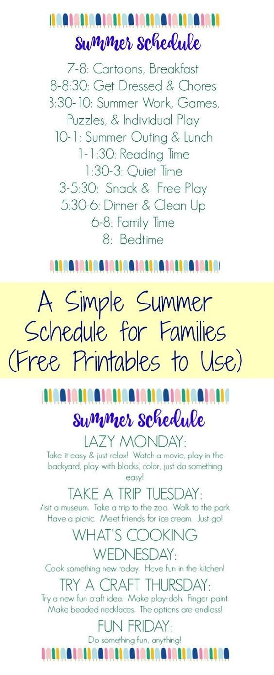 Summer Schedule for Kids (Free Printable #summerschedule Summer Schedule for Kids (Free Printable) ||| The Chirping Moms #summerschedule
