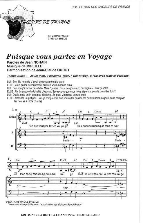 Puisque Vous Partez En Voyage : puisque, partez, voyage, PUISQUE, PARTEZ, VOYAGE, Boîte, Chansons,, Partir, Voyage,, Parole, Musique