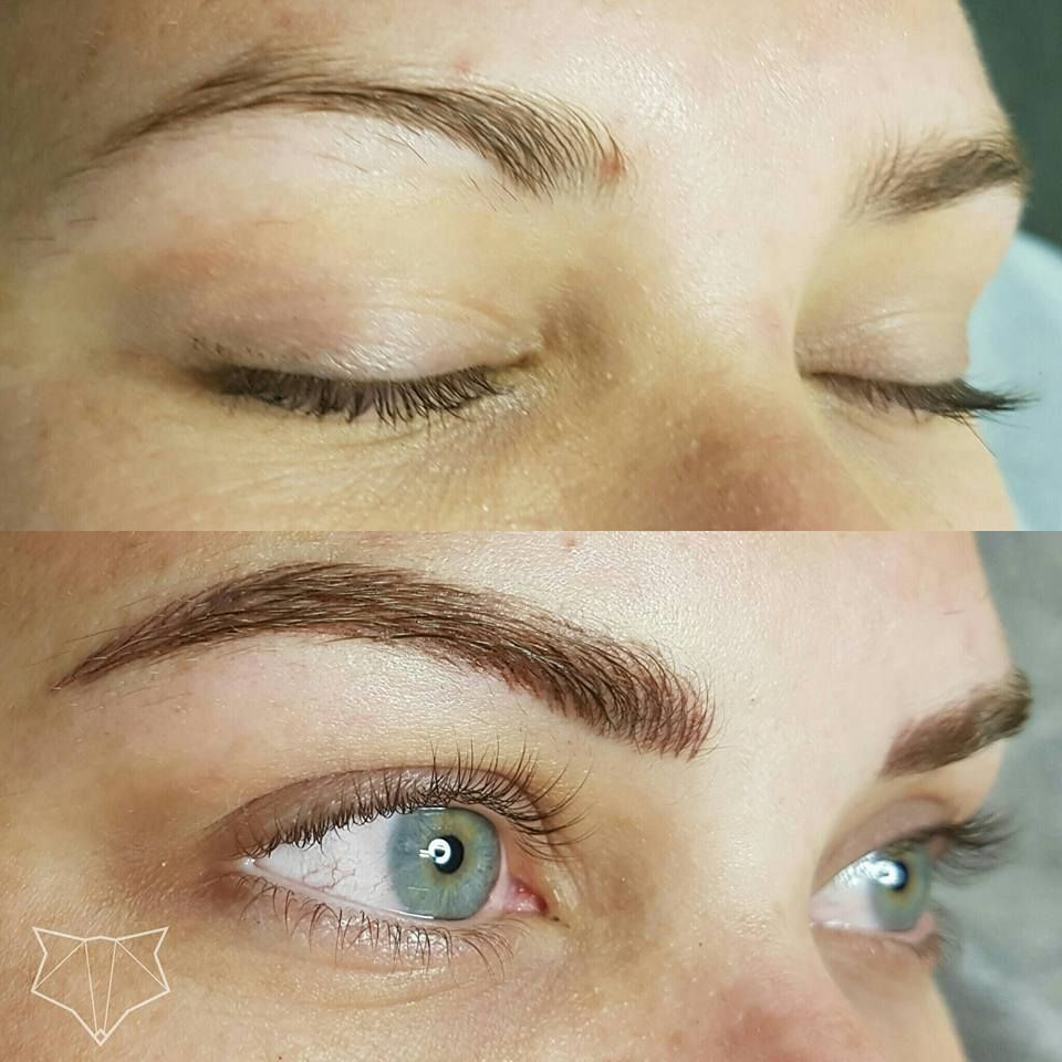 Featherstroke brow tattoo microblading cosmetic brow for Cosmetic eyebrow tattoo