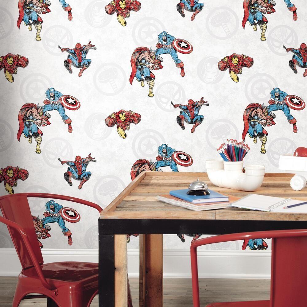 Marvel Comics Classic Peel Stick Wallpaper Peel And Stick Wallpaper Decor Temporary Decorating