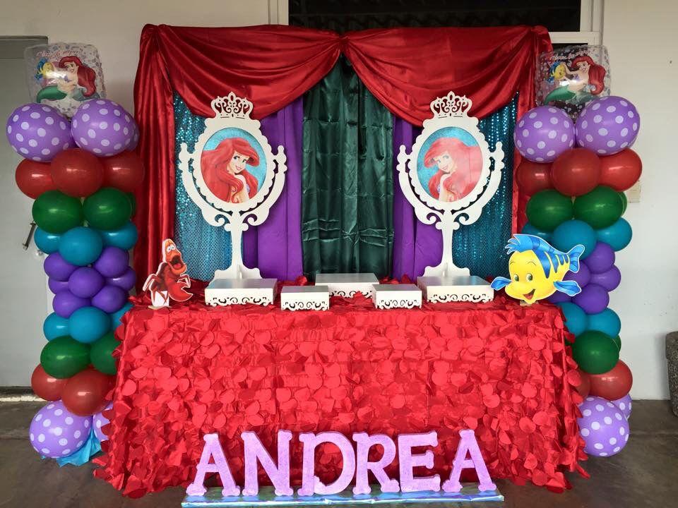 Decoracion la sirenita theme la sirenita pinterest - Decoracion fiesta de cumpleanos infantil ...