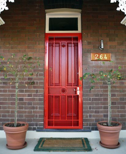 Red Security Screen Door I61 All About Cute Home Design