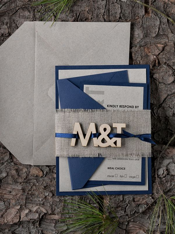 Affordable wedding invitations rustic invites