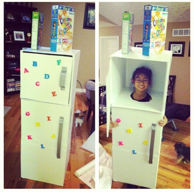 refrigerator costume. refrigerator halloween costume. for kids costume f