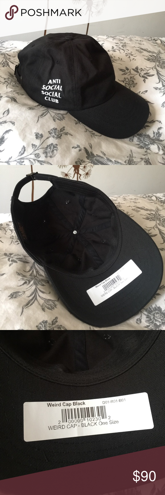 3fa1e38987d ANTI SOCIAL SOCISL CLUB HAT 100% authentic anti social social hat. Black  color. Universal for all skin tone. Never worn. Anti Social Social Club  Accessories ...