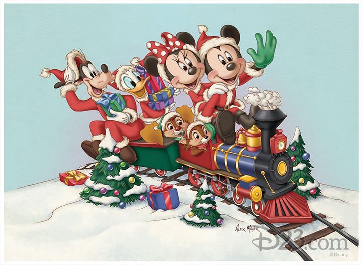 come on board this disney christmas train - Disney Christmas Train