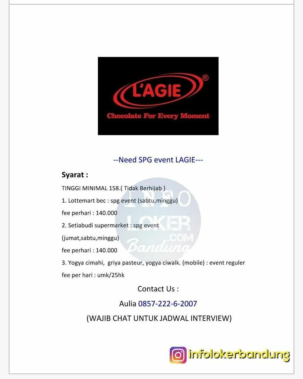 Lowongan Kerja Spg Event L Agie Bandung November 2017