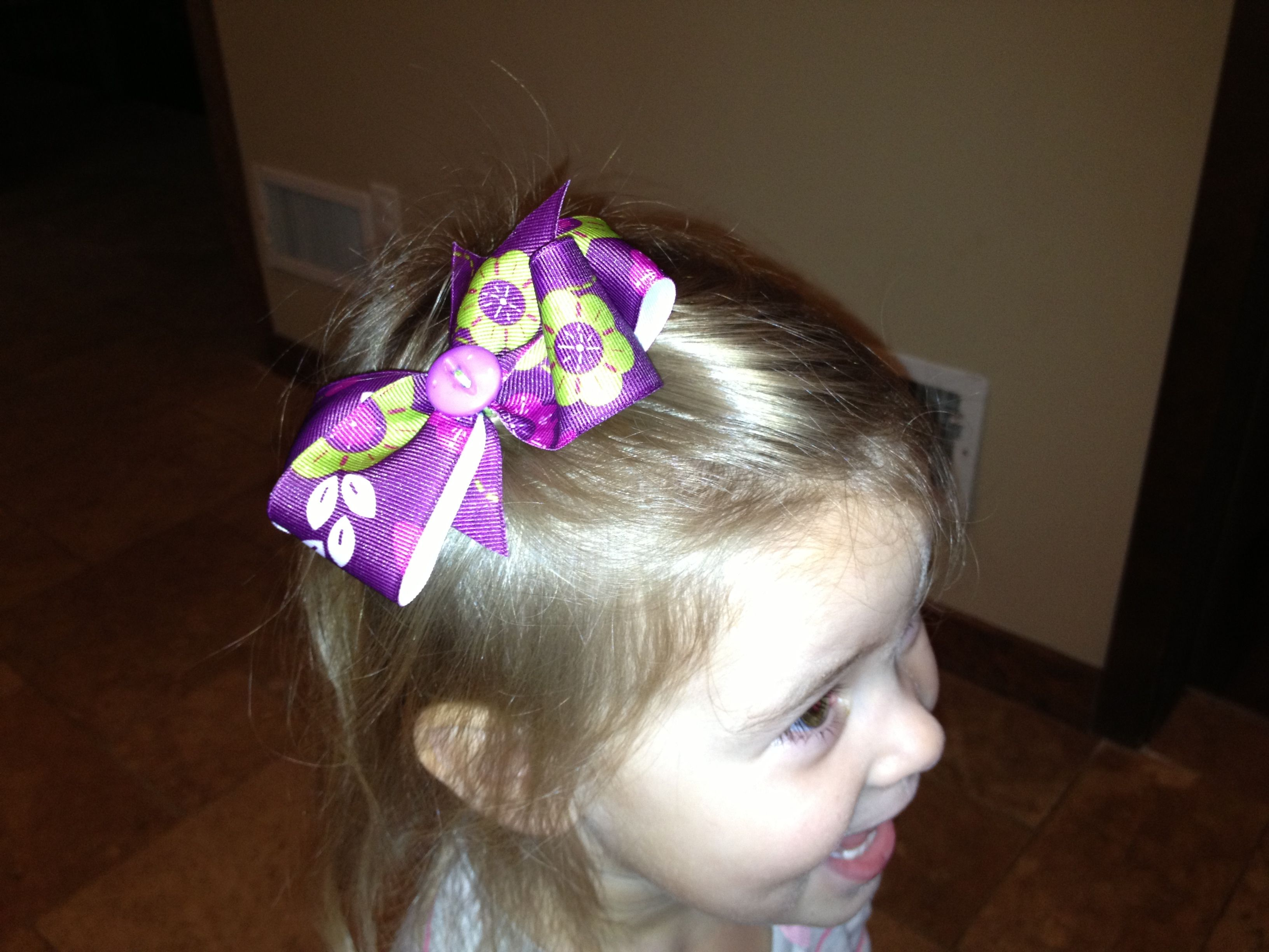Handmade boutique style hair bow this is on my etsy site for sale