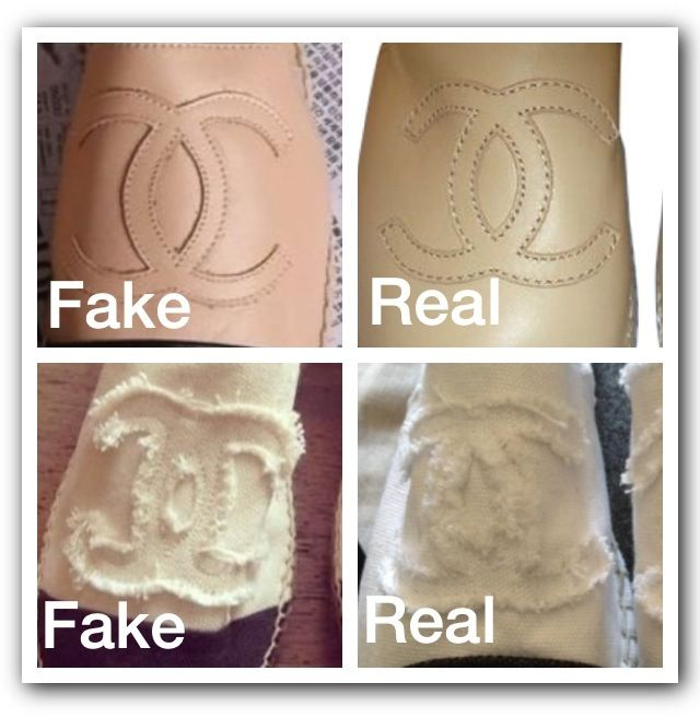 92393de046d Fake VS real CHANEL espadrilles. | What To Look For On Fake Items in ...