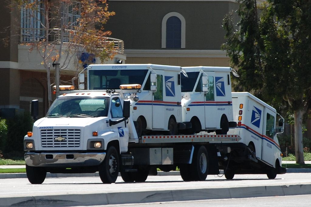 Usps Truck United States Postal Service Chevy Flatbed Tow