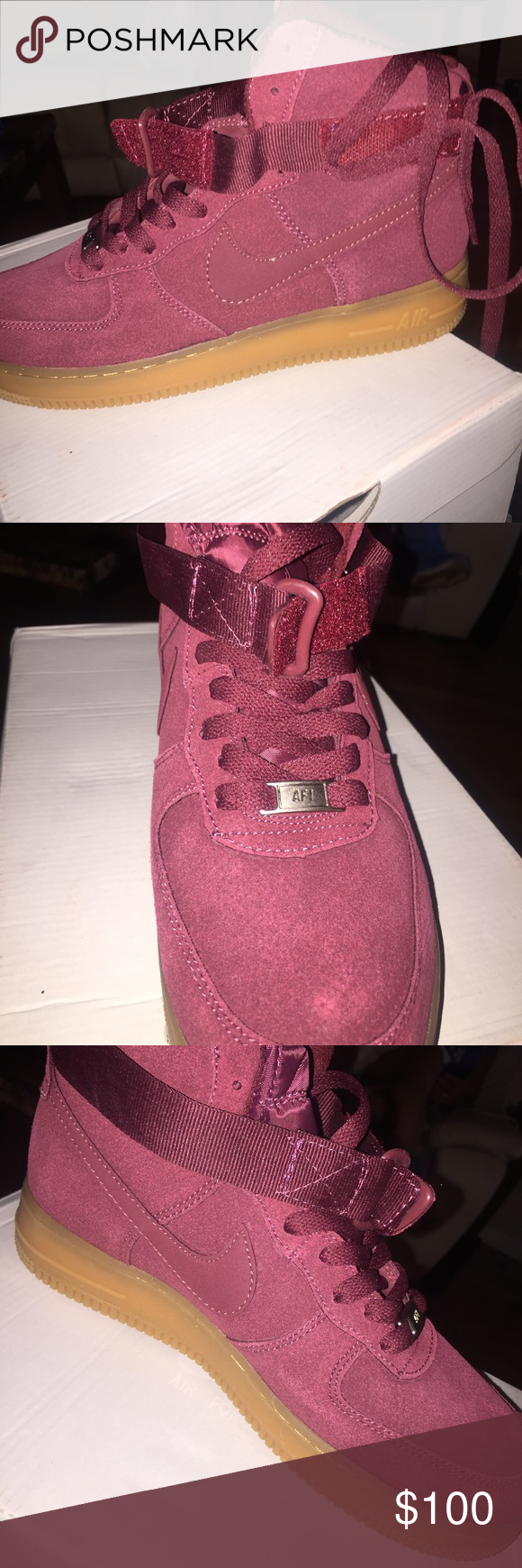 BURGUNDY AIR FORCE 1 brand new Nike Shoes Sneakers