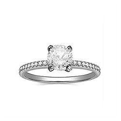 Engagement Ring, Round Shape, 2.01 CT.