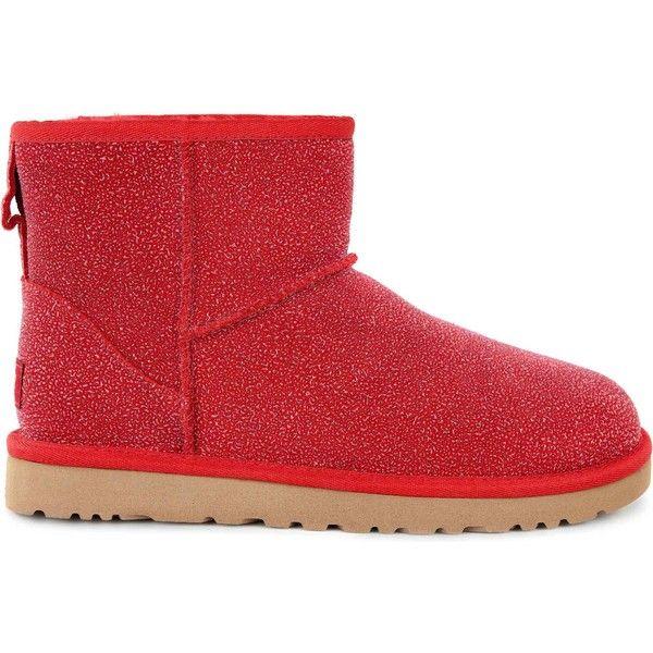 ddd9335c6a7 UGG Women's Classic Mini Serein Lipstick Red Boots ($160) ❤ liked ...