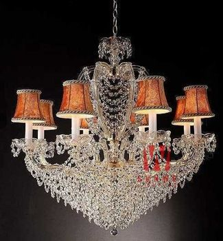 8 lights k9 crystal chandelier gallery lamp with fabric covering 8 lights k9 crystal chandelier gallery lamp with fabric covering shades simple empire chandelier fixture c9207 aloadofball Image collections