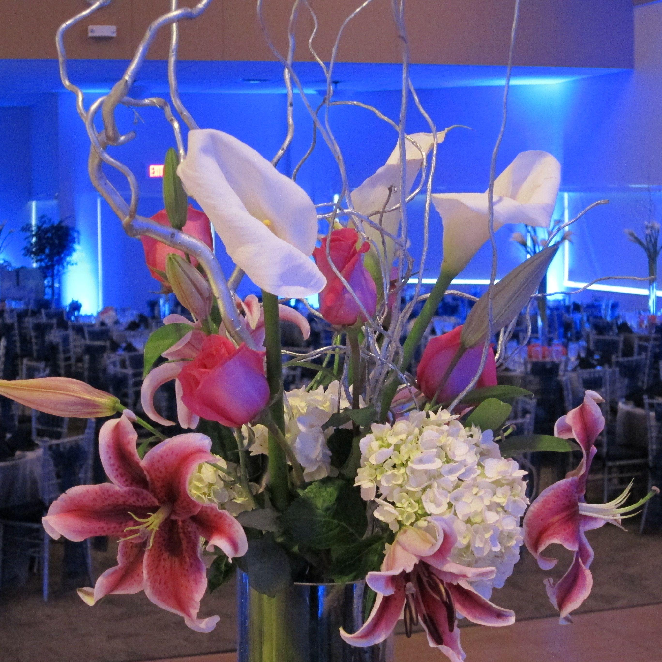 Beautiful flower arrangement really pops when its back lit with beautiful flower arrangement really pops when its back lit with led wall washerscenterpiece izmirmasajfo