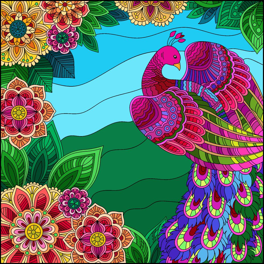 Pin By Cathy Garcia On Addicted To Coloring Colorful Art Coloring Pictures Happy Colors