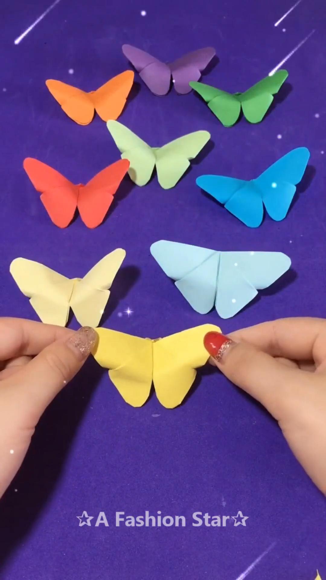 Beautiful Cute Butterflies Origami Idea