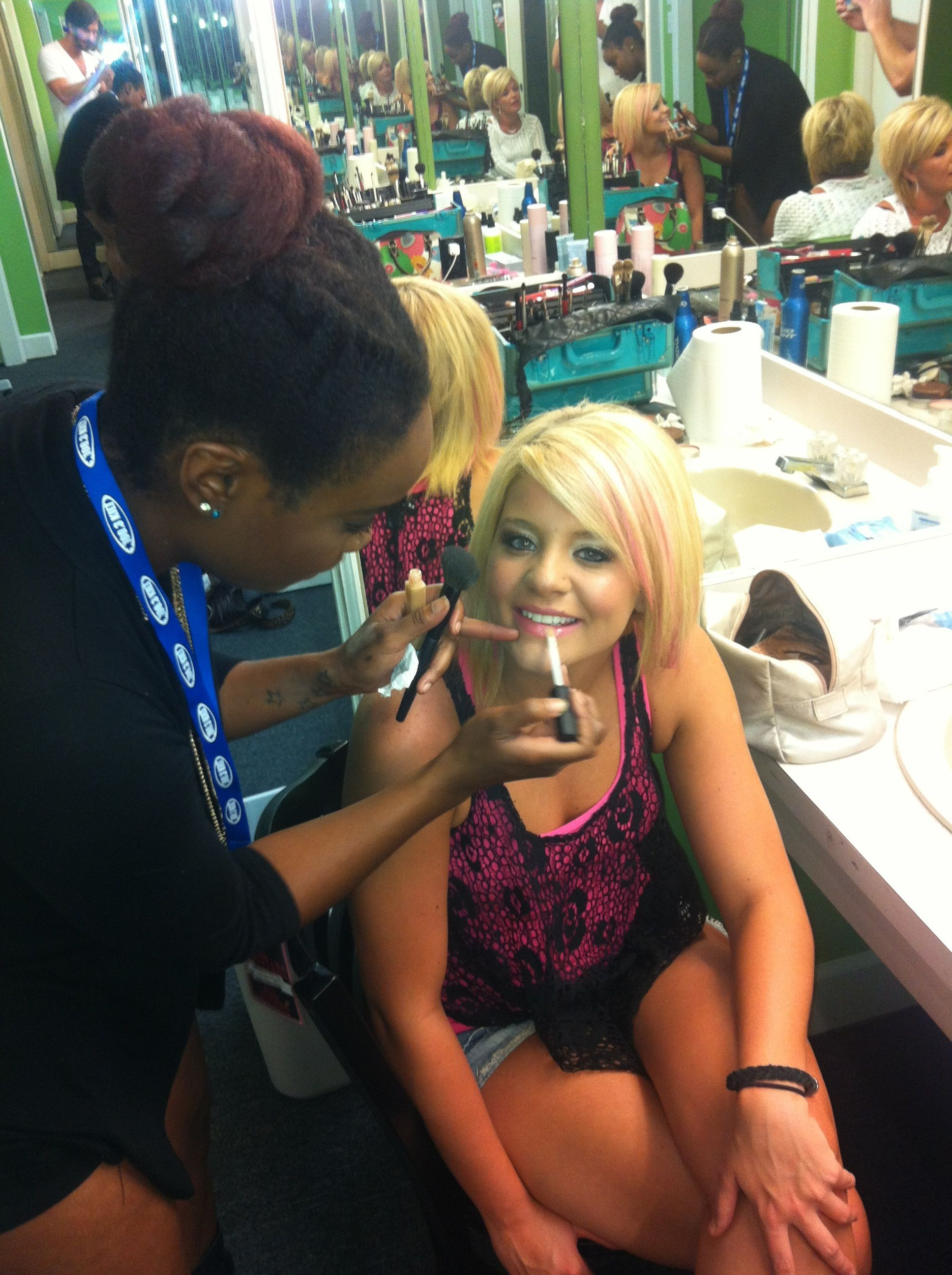 Eliy and Lauren Alaina (of American Idol fame) in July 2012 at Girls With Guitars event in Houston