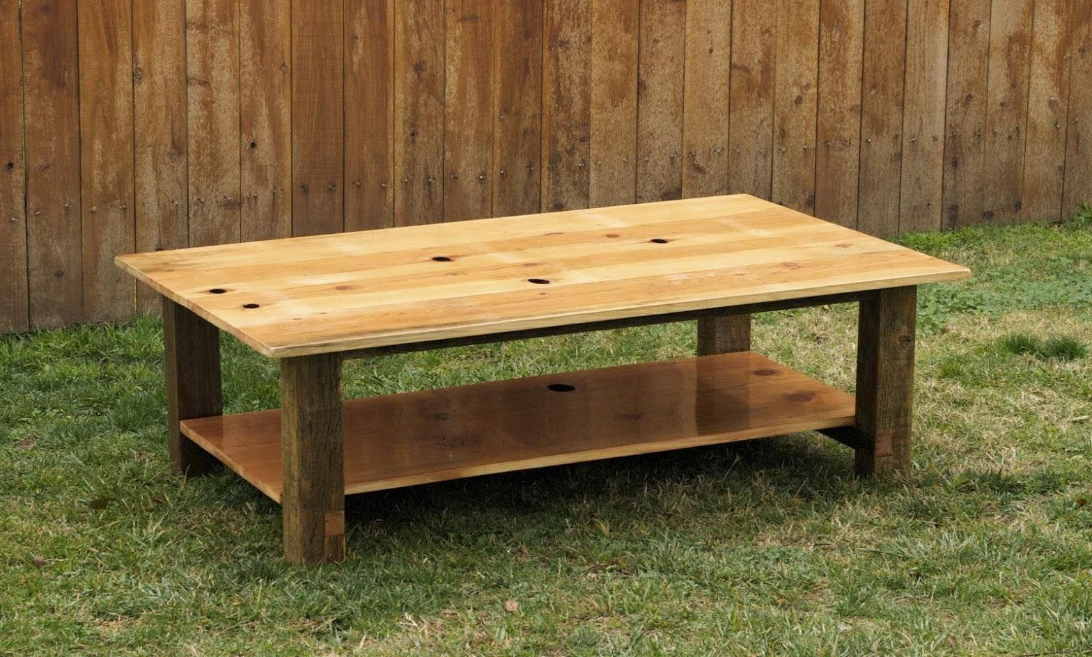Lovely Knotty Pine Coffee Table