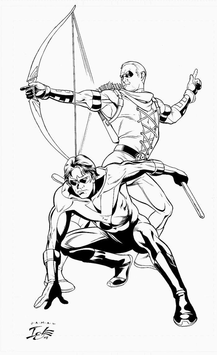dc comics nightwing coloring pages - photo#16
