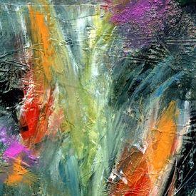 Kunst Ambiente unbekümmert wachsen abstrakte malerei acryl experimentell