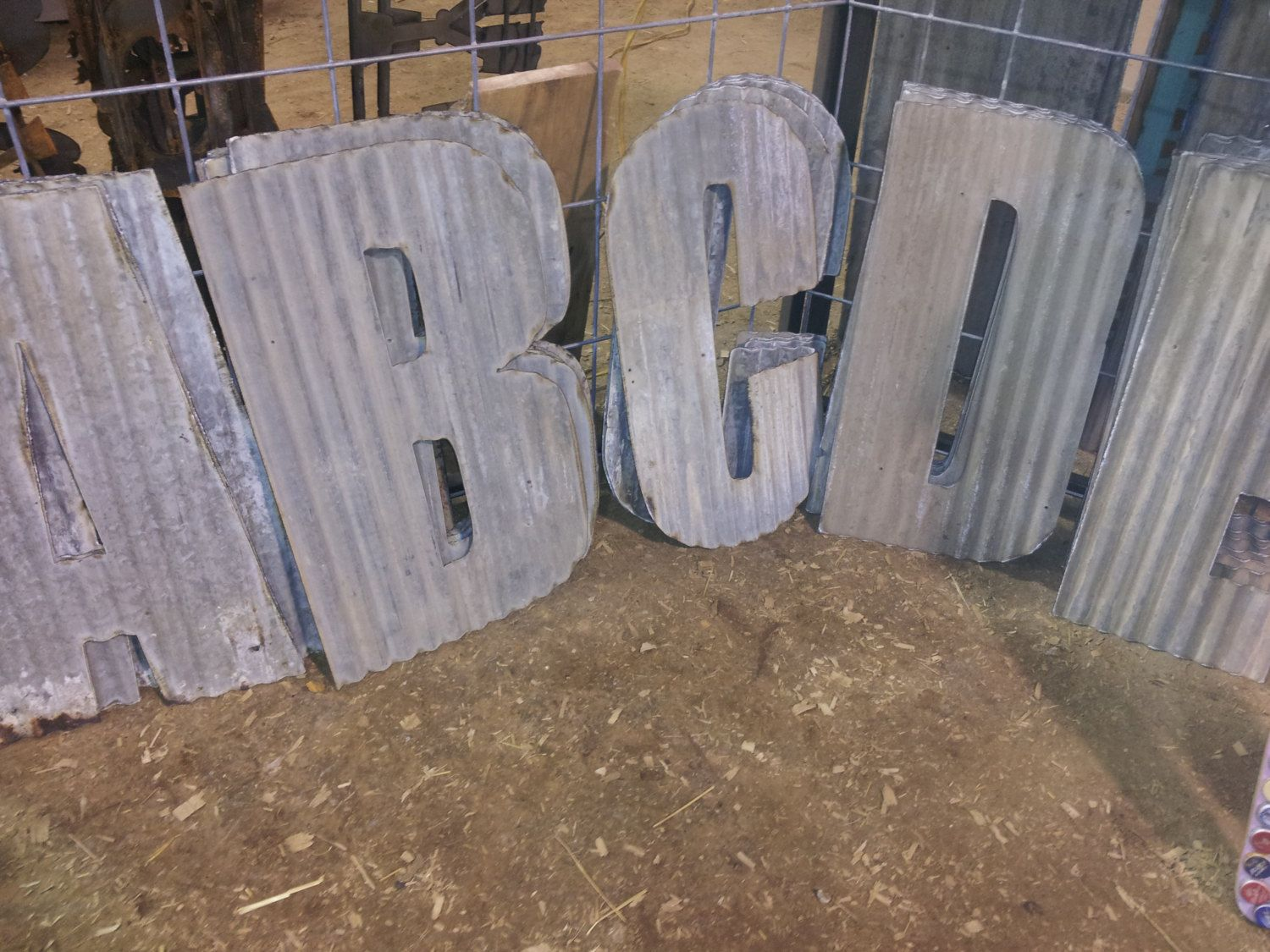 24 Tall Corrugated Metal Farmhouse Letters A Z And Numbers 0 9 Metal Letters Corrugated Metal Metal Working Projects
