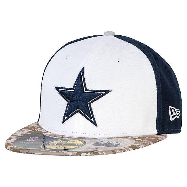 5eef03eb424c7 Dallas Cowboys New Era Salute To Service 59Fifty Cap