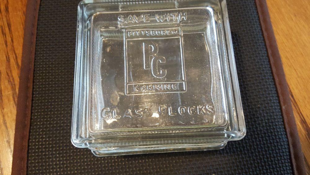 vintage pittsburgh corning glass block bank