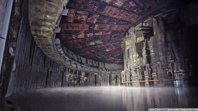 Base de misiles abandonada en la antigua URSS.