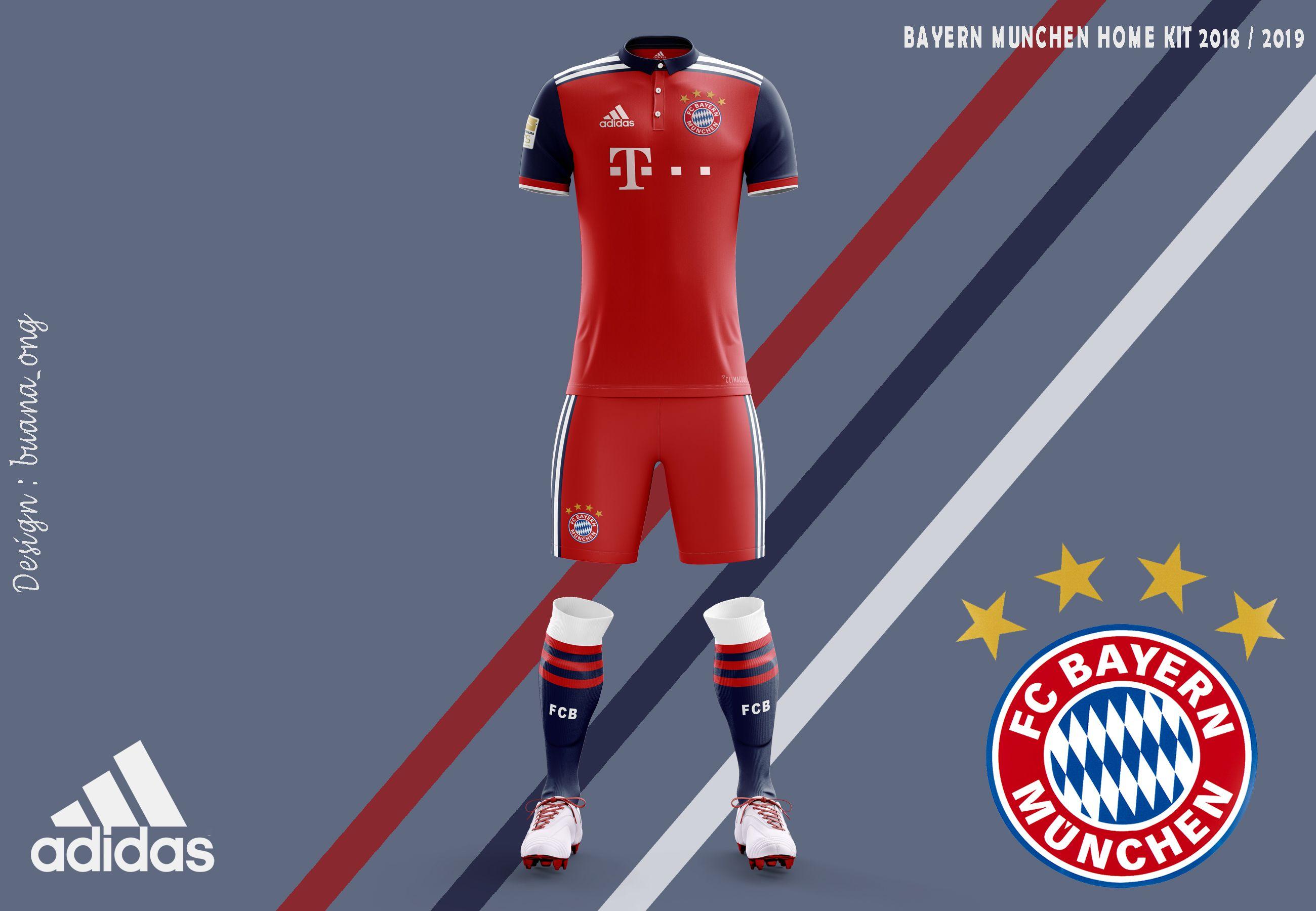 Check Out My Behance Project Bayern Munchen Concept Home Kit 2018 2019 Https Www Behance Net Gallery 60909829 B Sports Jersey Design Bayern Soccer Shirts