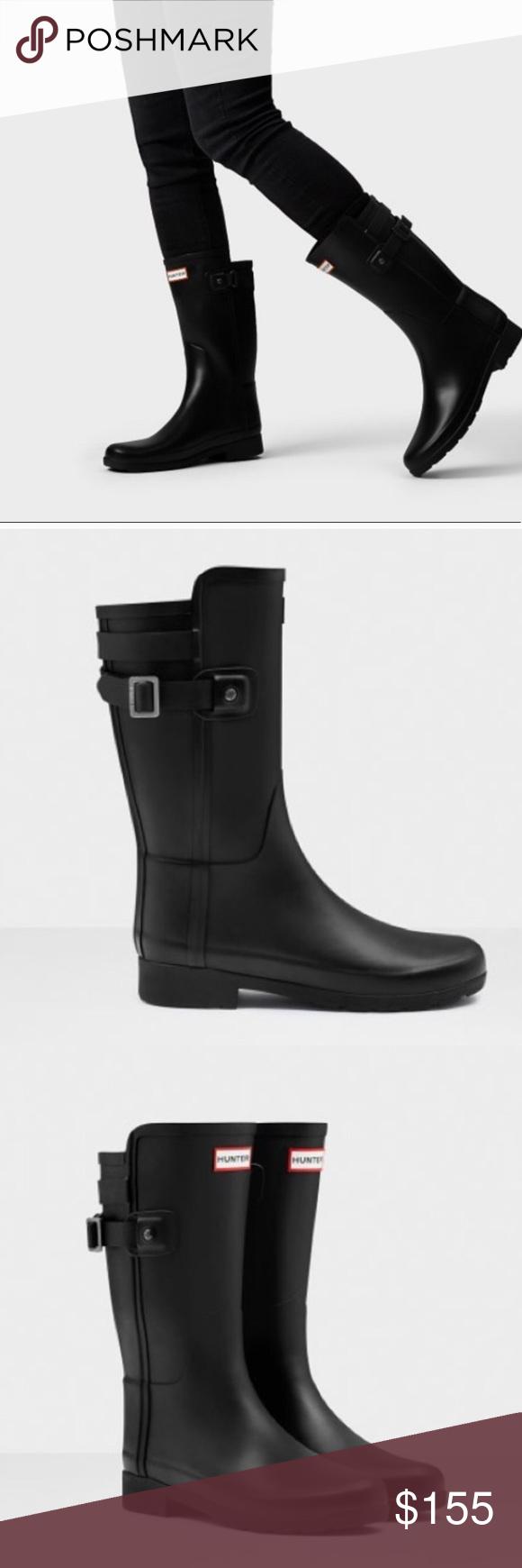 695fa8f43da5 Hunter Original refined back strap short boots New in box US size 10, euro  42 Hunter Shoes Winter & Rain Boots