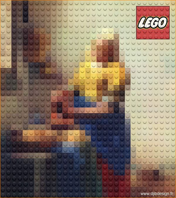 la laitière en lego | Lego, Tableau de maitre, Photoshop