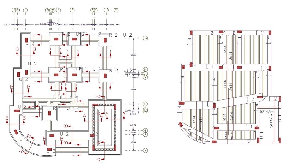 3 Bhk House Foundation Plan And Slab Bar Design House Foundation Bar Design How To Plan