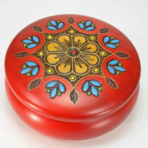 Brass Inlay – Dogwood Hill Gifts - A handcrafted box from Poland featuring traditional designs and techniques. Great size, many uses.  #folkart #Poland