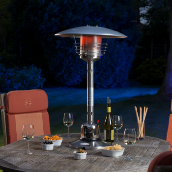 The Sirocco Tabletop Patio Heater Has Is Designed To Completely Compliment Your Garden Setting While Pr Patio Heater Tabletop Patio Heater Gas Patio Heater